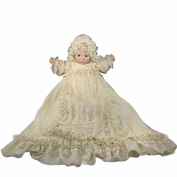 VTG First Memories Signed Life-Size Doll in Gown